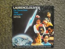 "LAURENCE OLIVIER ""THE THEME FROM TIME"" 1985 UK  IMPORT W/PS GOOD++/EX OOP 7"" 45"