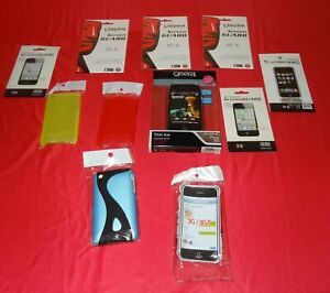 iPhone 3 5 plastic cases and packs of screen guards all new and sealed