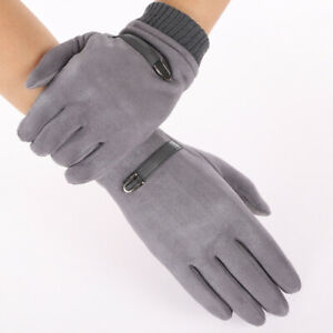 Men's Winter Thermal Gloves Suede-lined Outdoor Large Size Touch Screen Gloves