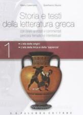 Storia e testi della letteratura greca Vol.1 PALUMBO SCUOLA, cod:9788880208402