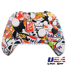 Patterned Full Housing Shell Buttons Kit for Xbox One Controller Sticker Bomb
