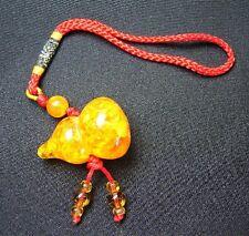 Feng Shui Chinese Amber Wu Lou Charm
