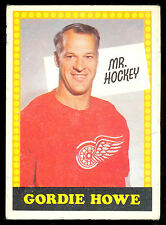 1969 70 OPC O PEE CHEE WITH #193 GORDIE HOWE MR HOCKEY EX COND DETROIT RED WINGS
