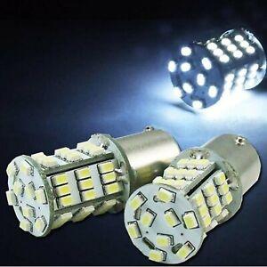 #1157 White 54 LED Pair 12V Tail Light Rear Brake Stop Turn Signal Lamps Bulbs