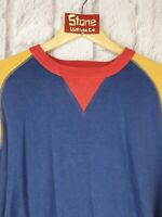 Levis Vintage Clothing LVC Blue Red Bay Meadows Crew Sweater Jumper £175 New S