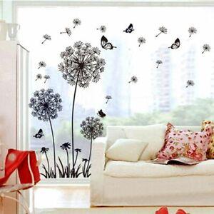 Dandelion Wall Sticker Butterflies On The Wall Living Room Bedroom Window Decor