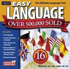 EASY LANGUAGE 16 Language Learning Tutorials PC XP Vista 7 8 10 New Sealed