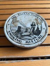 Vintage The Balkan Sobranie Smoking Mixture Tobacco Tin