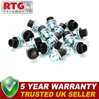 16x Black Wheel Nuts + Washers For Range Rover L322 22mm Hex - Shop Soiled