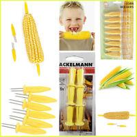 Corn Skewers Cob Prongs Sticks Set Stainless Steel Holders Fork Pack Sweet Grip
