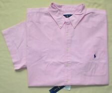 2XLT POLO RALPH LAUREN Men short sleeve oxford shirt pink top 2XL TALL 2XT