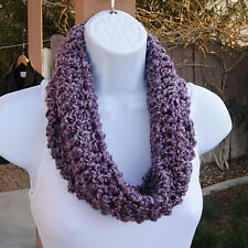 SUMMER COWL SCARF Light Purple Small Short Crochet Knit Lightweight Neck Warmer