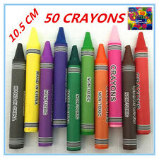 10 X Jumbo Size Extra Thick Crayon Crayons Assorted Colors Kid Craft Gift Draw