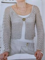 "Ladies Crochet Pattern Draping Cardigan Chest 32 - 38"" DK Yarn"