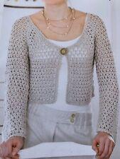 "Ladies Crochet Pattern Draping Cardigan Chest 32 - 38"" DK Yarn"