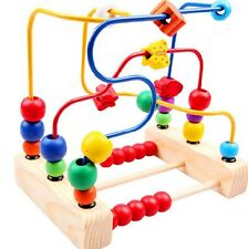JUNGEN Wooden Circle Bead Maze Wooden Toy for Kids 1-3 Years Old Educational Toy