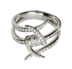 STEPHEN WEBSTER WHITE GOLD AND DIAMONDS FORGET ME KNOT RING