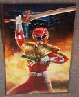 Power Rangers Red Ranger Glossy Art Print 11 x 17 In Hard Plastic Sleeve