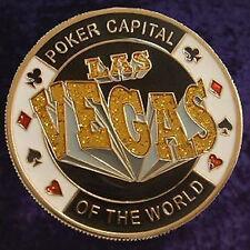 "Card Guard Gold ""Las Vegas"" - Poker Texas Hold'em - Placcato Oro - Lucky Coin"