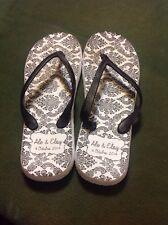 ALE & ELOY Flip Flops - Size 10 - WOMEN'S SANDALS - BLACK&WHITE - PLASTIC