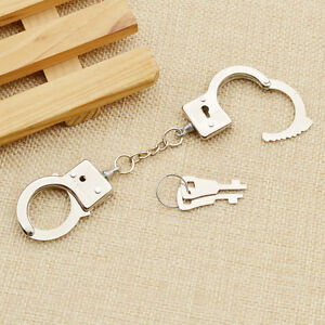 Metal Simulation Handcuffs With Key For Small Mini Miniature DIY Accessories