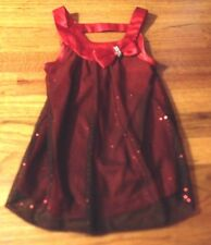 Girl's IZ Byer California Red Sparkly Valentine's Top Holiday size 5 - Very Cute