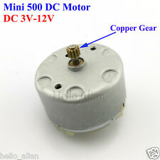 DC 3V-12V Micro Mini Electric Motor with Gear for Solar Model DIY RF-500TB-12560