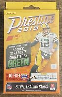 2019 Panini Prestige Football Factory Sealed 60 Card Hanger Box.