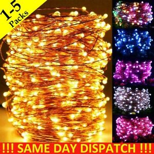 1-5Pack LED Copper Wire USB Plug In Micro String Lights Party Static Fairy Light