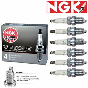 6 pcs NGK V-Power Spark Plugs 2003-2005 Volvo XC90 2.9L L6 Kit Set Tune Up