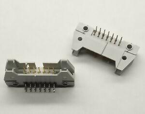 2 PCS. Right angled IDC box header male 14 pole 2.54mm