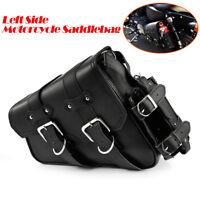 Satteltasche Gepäck für Harley Davidson Dyna Fat Bob FXDF Montana Schwarz links