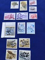Iceland Stamps,14,Scott 608-621,1985-1986, MNH, Cat Val:$19.65US, Pr:$4US, (2155