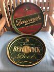 2 VINTAGE FAMOUS BEVERWICK BEER TRAYS BEVERWYCK ALBANY N.Y.