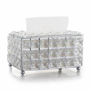 Box Paper Tissue Rack Holder Office Storage Home Napkin Case Towel Rhinestone
