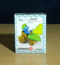 Smurfs Wild Driving Leaf Car Super Smurf Driver Vintage Figure PVC Toy Box 40264
