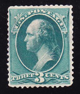 US Scott 207 old 3c Washington Banknote re-engraved M/NG CV $70