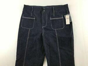 NEW Anthropologie Pilcro Size 31 P Tall Ultra High Rise Wide Leg Jeans Denim