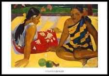 Paul Gauguin PARAU API 1892 poster immagine stampa d'arte nel quadro in alluminio in Nero