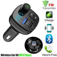 Car Wireless Bluetooth FM Transmitter MP3 USB Charger Cigarette Lighter Power