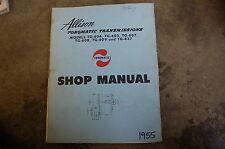 ALLISON TRANSMISSION TG-604 605 607 608 609 627 Service Repair Shop Manual 1955
