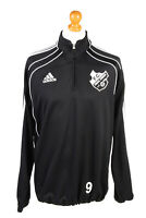 Adidas Mens Tracksuit Top FC Frisia Vintage Half Zip Size 42/44 Black - SW2553
