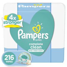 New ListingPampers Baby Wipes - Complete Clean Fresh Scent - 216, 504, 720 Count Packs Soft