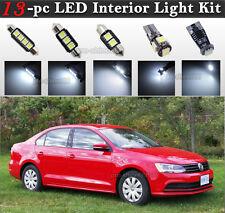 13-pc White Canbus LED Interior Light Bulbs Package Kit Fit 2011-2016 VW Jetta
