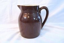 Brown And White Table Water Milk Pitcher Ceramic Made In Thailand