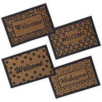 """Door Entrance """"Welcome"""" Rubber Doormat Design Non Slip Indoor Outdoor Absorbent"""