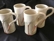 LOT OF 4 FITZ AND FLOYD JAPAN 1978 THE STORK CLUB MUGS W LABELS EX COND HTF