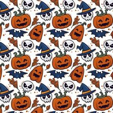 NON PERSONALISED HAND DRAWN HALLOWEEN PUMPKIN WRAPPING GIFT WRAP PAPER LARGE