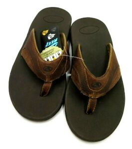 REEF leather FANNING Men's SANDALS Size 8 UNUSED built-in bottle opener NEW