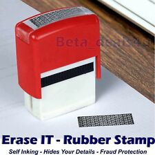 ERASE IT RUBBER STAMP SELF INKING SECURITY SHREDDER NO NEED ID MARKER PROTECTOR